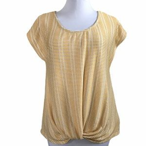Anthropology W5 Concepts Ribbed Knot Front Top